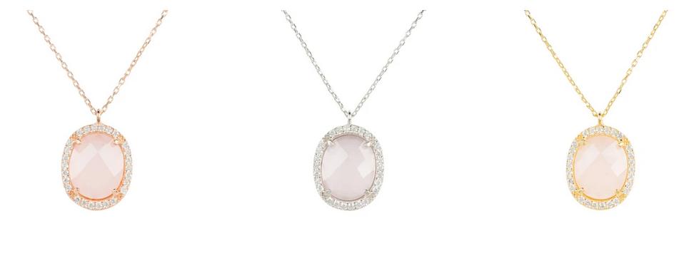 rose quartz necklace uk